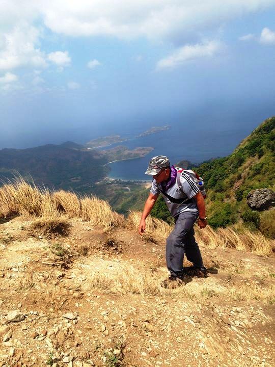 few more steps at the summit of Pico De Loro